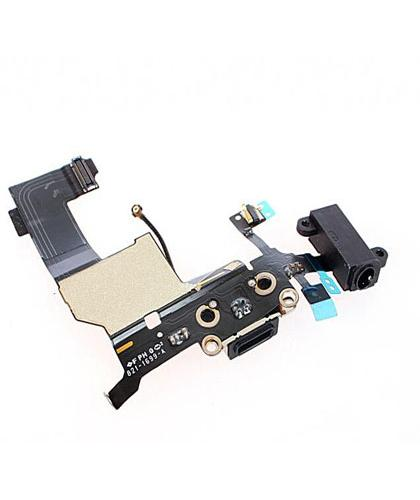 Flex + conector Dock Carga + Auricular Para Apple iPhone 5 Negra