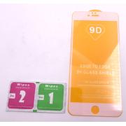 Cristal Templado 9D Para Apple Iphone 6S Plus Blanco