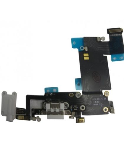 Flex + conector Dock Carga + Auricular Para Apple iPhone 6s Plus Plata